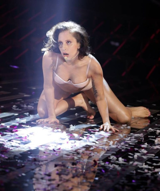 Lady Gaga perplexes X Factor fans with naked piano-playing