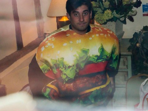 The Only Way Is Essex's James 'Arg' Argent dresses up as a burger for Halloween