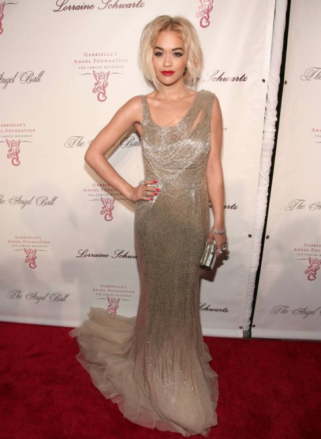 Singer Rita Ora attends Angel Ball 2013 on Tuesday, Oct. 29, 2013, in New York. (Photo by Andy Kropa/Invision/AP)