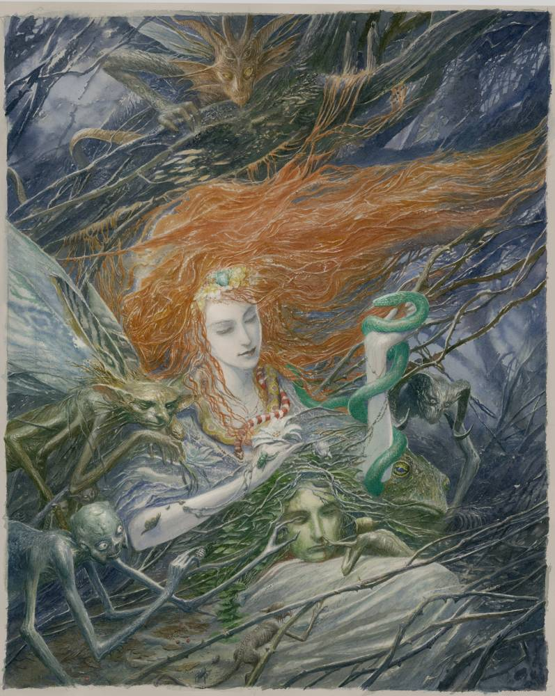Artwork from Fearie Tales, edited by Stephen Jones (Picture: Alan Lee 2013)