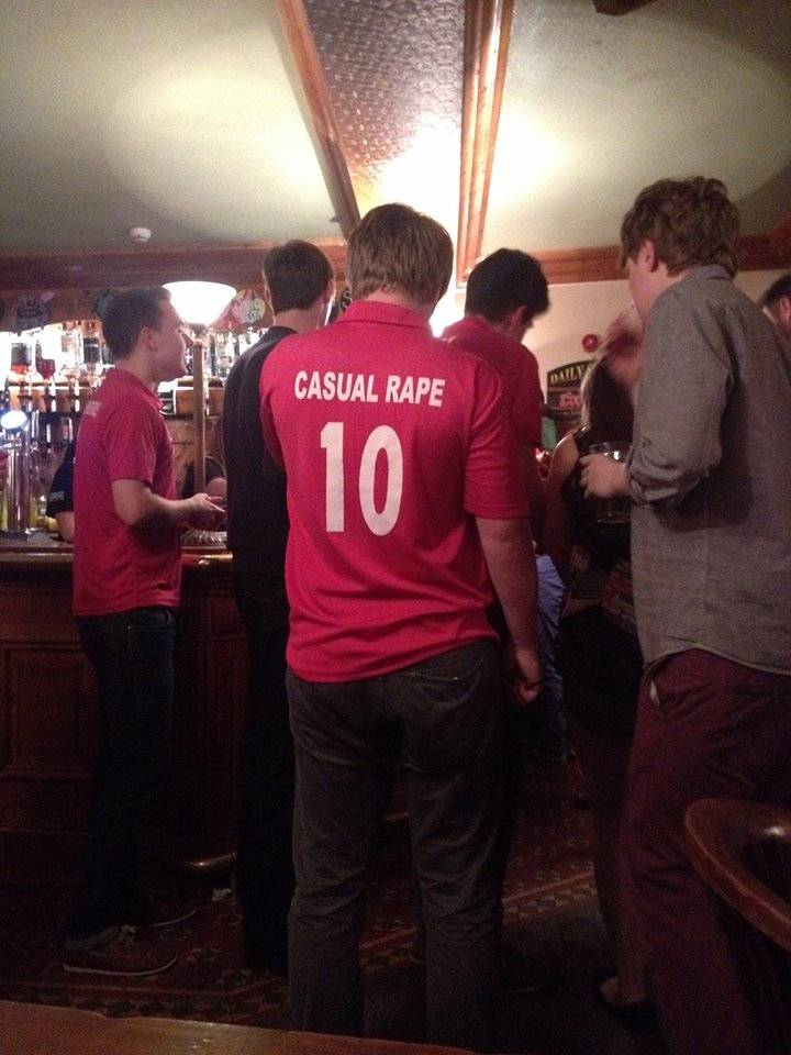 University cricket team banned over 'casual rape' T-shirt