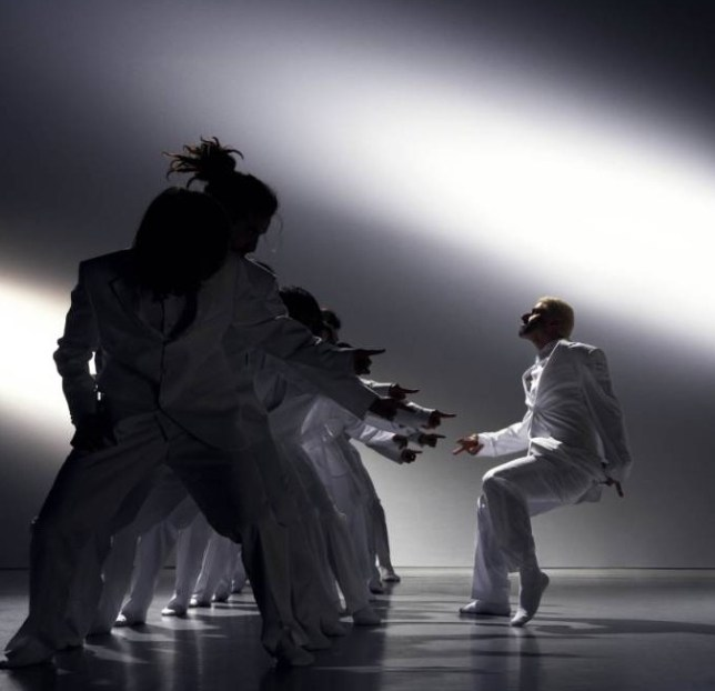 Choreographer Hofesh Shechter and his dancers (Picture: Jake Walters)