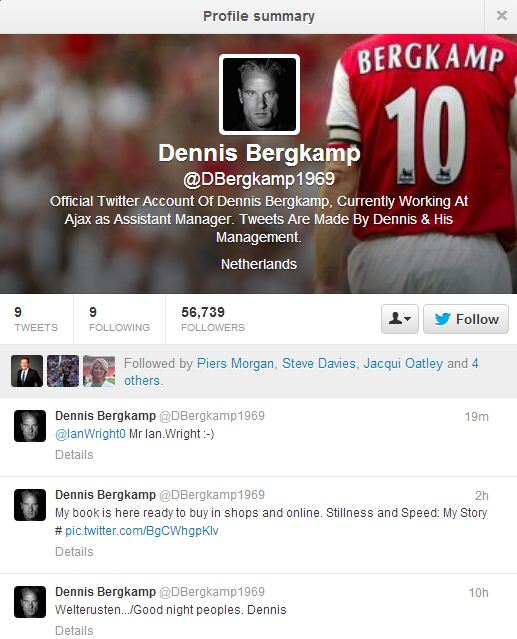 Arsenal and thousands of Gunners fans fooled by fake Dennis