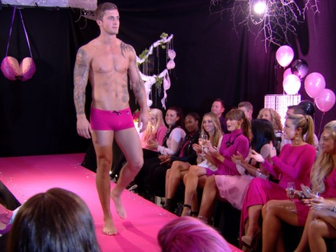 TOWIE exes Dan Osborne and Lucy Mecklenburgh strip off for charity catwalk