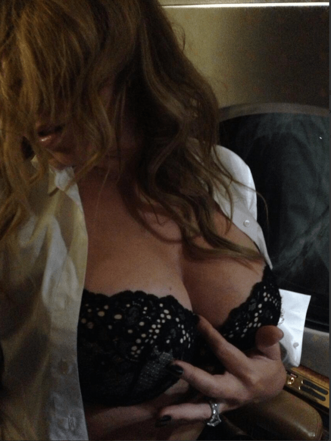 Mariah Carey sent hubby Nick Cannon this suggestive picture on Twitter for his birthday (Picture: Mariah Carey/Twitter)