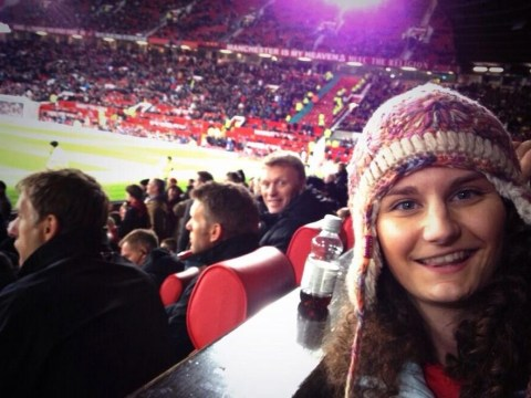 Happy David Moyes photobombs Manchester United fan's Old Trafford picture