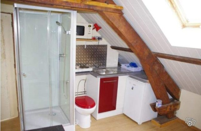 Smallest flat in the world? Go to the toilet while cooking your dinner