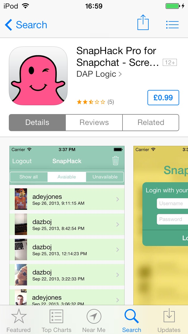 SnapHack is available in the App Store (for the time being)