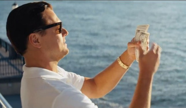 Leonardo DiCaprio in the Wolf of Wall Street trailer