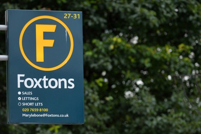 A branch of Foxtons estate agents in central London (Picture: AFP/Getty Images)