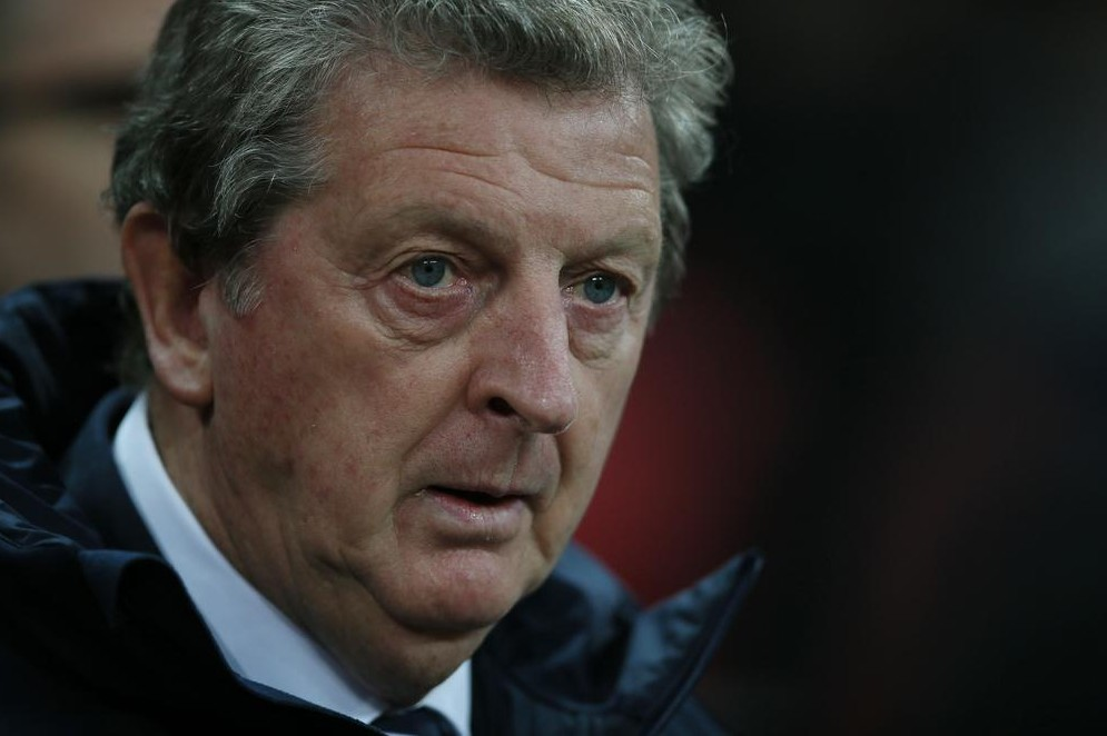 Roy Hodgson looks concerned during England's loss last night (Picture: AP)
