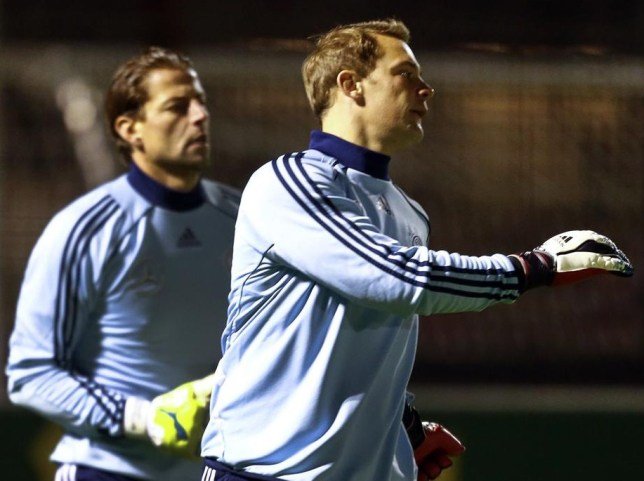 Weidenfeller, left, and Neuer are in contention to play at Wembley on Tuesday (Picture: Reuters)