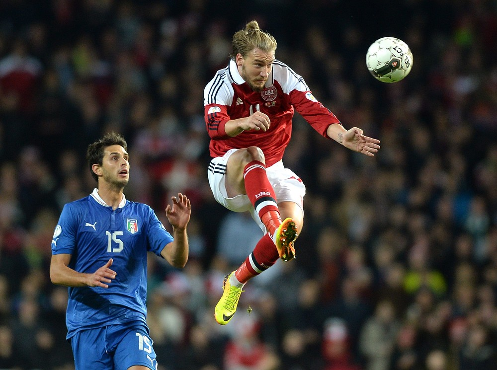 Nicklas Bendtner looks like he will be on his way in January (Picture: Getty Images)