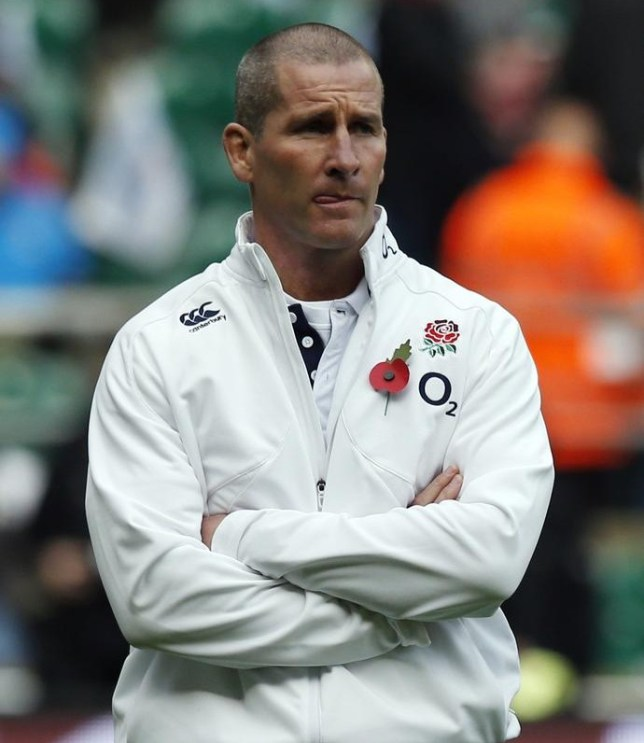 England coach Stuart Lancaster observes the pre match warm up before the QBE International at Twickenham, London. PA Wire/Press Association Images