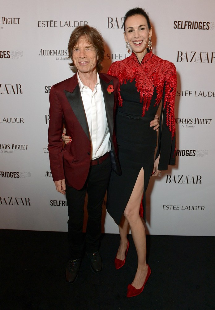 IMAGE DISTRIBUTED FOR HARPE'S BAZAAR - Sir Mick Jagger and girlfriend designer L'Wren Scott attend Harper's Bazaar Women of the Year Awards 2013 at Claridge's Hotel on Tuesday, Nov. 5, 2013, in London. Invision for Harper's Bazaar