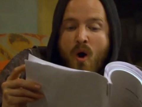 Breaking Bad: Watch Aaron Paul's mind get blown during final script read-through with Bryan Cranston