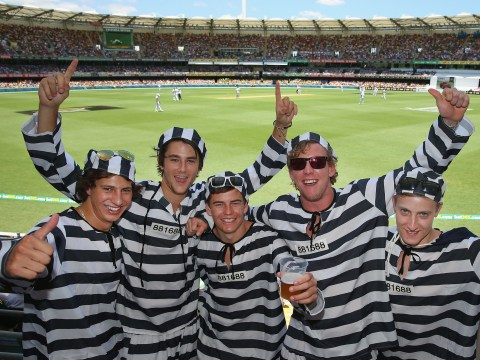 Gallery:  'Barmy Army' fans attend first Ashes test between Australia and England at The Gabba 2013
