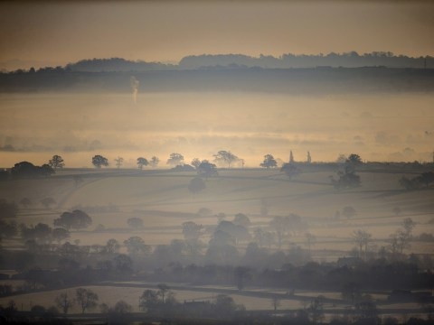Gallery: Late autumn sun rises over the Somerset Levels