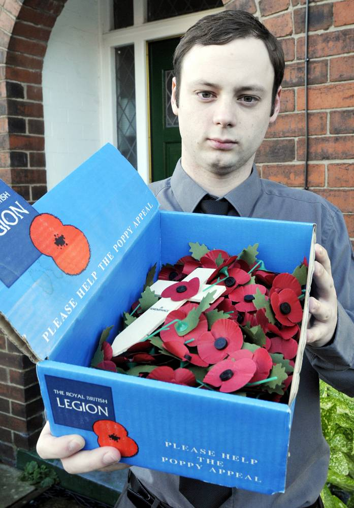 I'm sorry: Man who urinated on war memorial 'making amends by selling poppies'