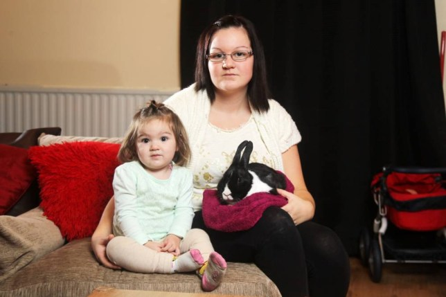 Samantha Davies and her daughter Rosie now only have one rabbit left in the family after Molly's death (Picture: Huw Evans Picture Agency)