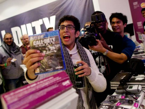Is this Britain's biggest gaming fan? Same man at front of queue for Call Of Duty and GTA releases