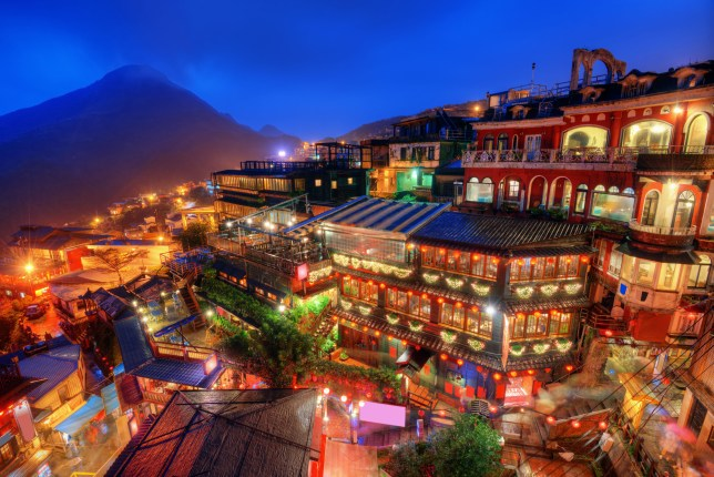 The village of Jiufen in Taiwan has become popular with film lovers (Picture: Alamy)