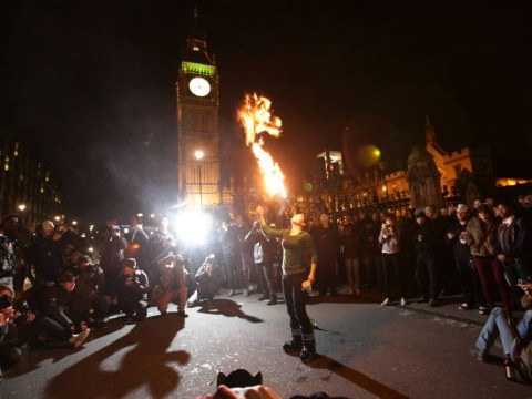 Gallery: Anonymous Bonfire of Austerity protest