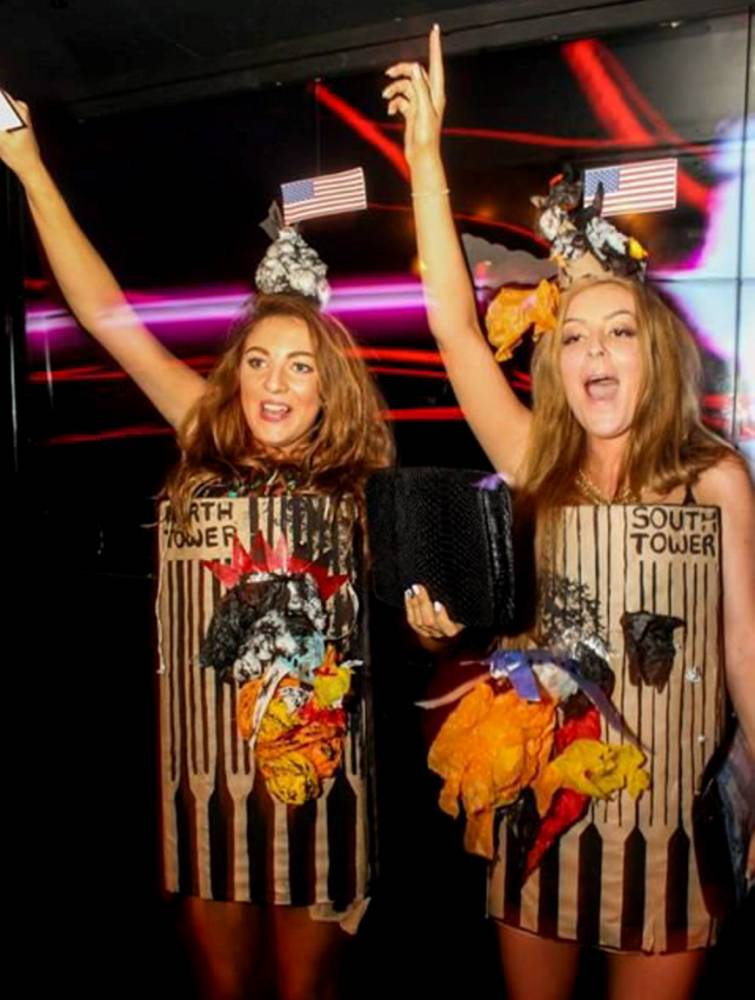 Has growing up with 9/11 made Twin Towers Halloween costume pair insensitive to real horror?