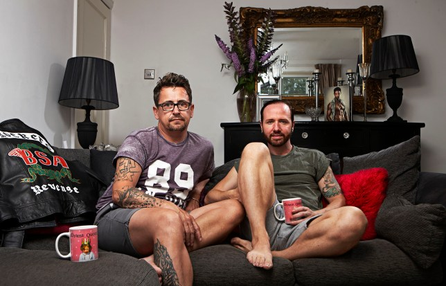 Gogglebox's Stephen and Chris get recognised out on the town. But no one has bought them a drink yet (Picture: Channel 4)