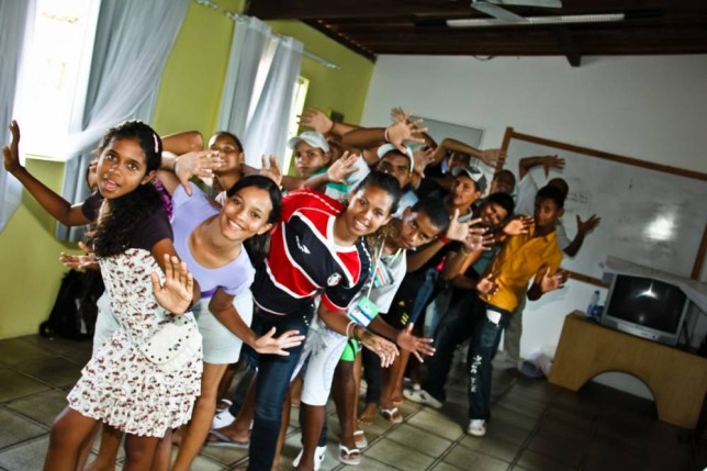 Children trained by TUI Nederland to raise awareness of child prostitution in Brazil (Picture: Supplied)