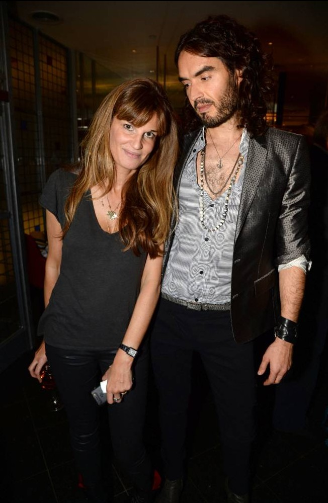 It's back on! Russell Brand makes no secret of rekindled romance with girlfriend Jemima Khan