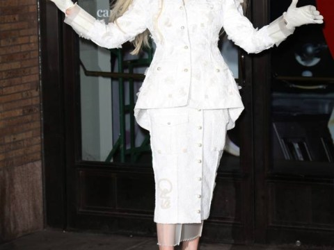 Lady Gaga looks like the ghost of Christmas past at the Glamour Women Of The Year Awards