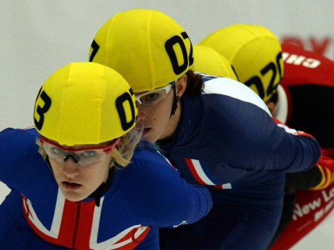Speed skater Elise Christie bounces back from crash to land World Cup bronze medal