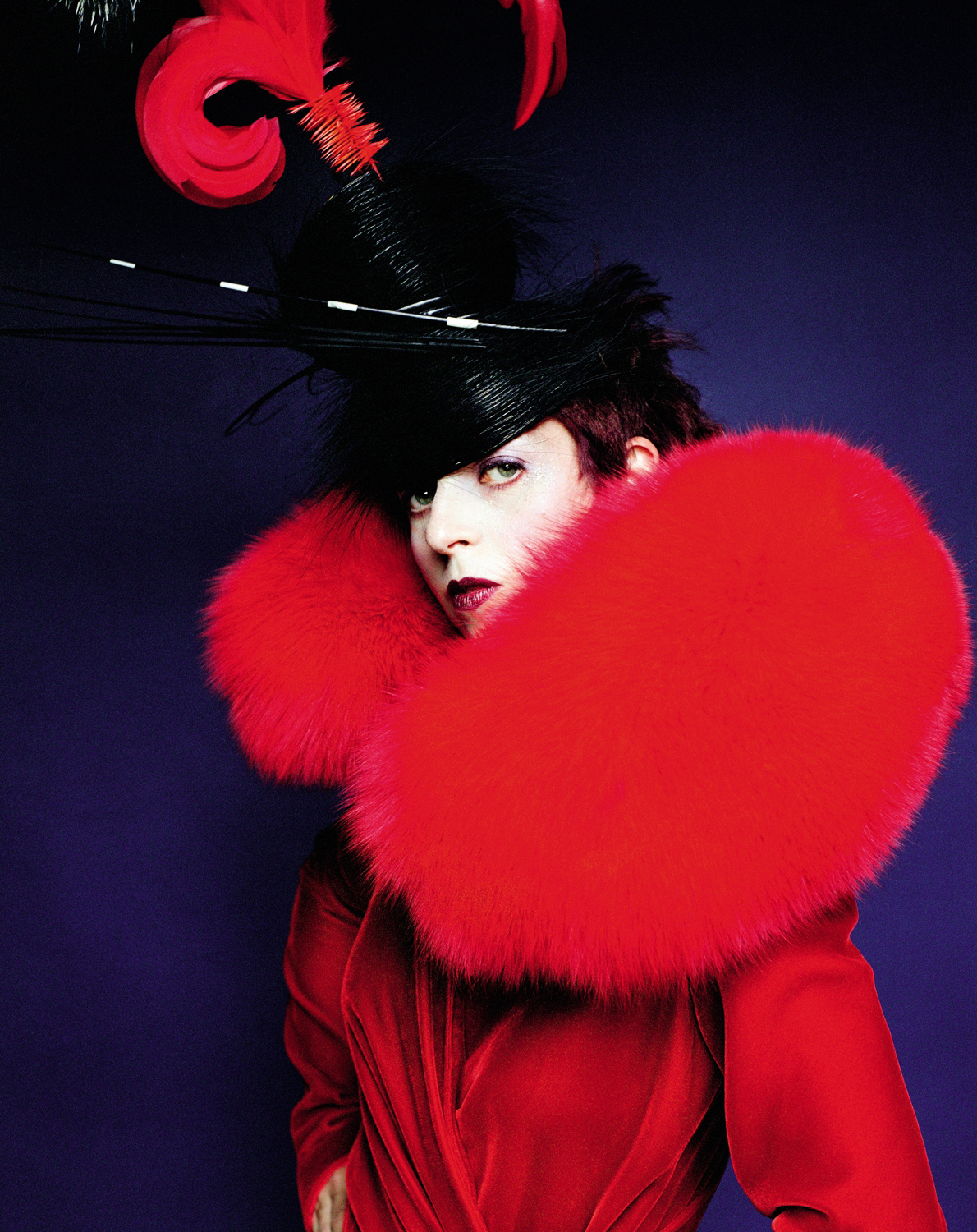Isabella Blow helped launch the careers of designer Alexander McQueen and milliner Philip Treacy (Picture: Mario Testino)