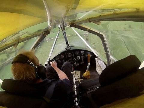 Terrifying moment a microlight pilot makes a crash landing after engine cuts at 300ft