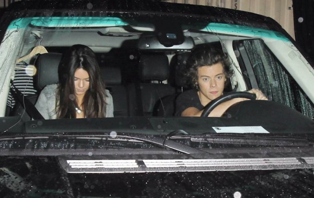 Harry Styles and Kendall Jenner leaving Craig's restaurant in West Hollywood