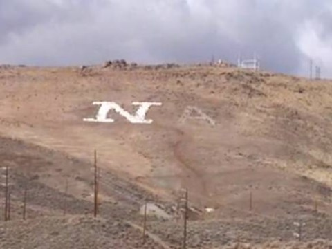 Man starts writing hillside message to win back ex-girlfriend 'TINA' – but gets tired and gives up