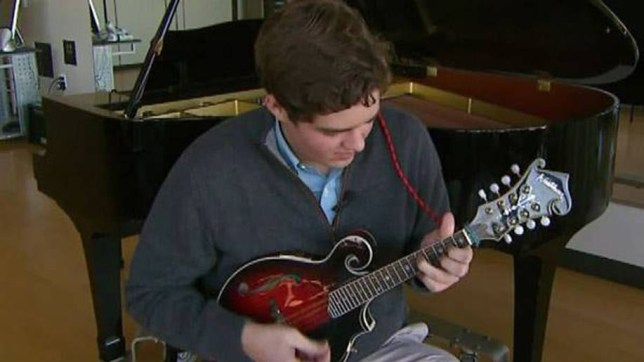 19-year-old Lachlan has the ability to play 13 musical instruments by ear (Picture: Facebook)
