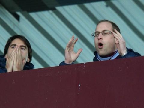 Prince William casts royal eye over Aston Villa v Sunderland