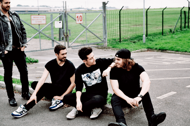 Bastille frontman Dan Smith (centre)  is stunned to be heading for a new No. 1 (Picture: Virgin/EMI)