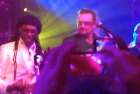Watch U2 perform makeshift cover of Daft Punk's Get Lucky