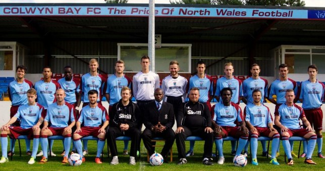 Frank sinclair and his team refused to finish the game without an appropriate referee (Picture: @Colwyn Bay FC)