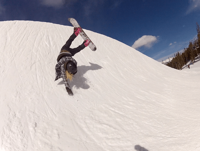Katie Blundell on the slopes