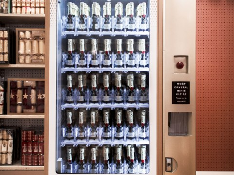Is this the world's poshest vending machine? Moet & Chandon put champagne dispenser in Selfridges
