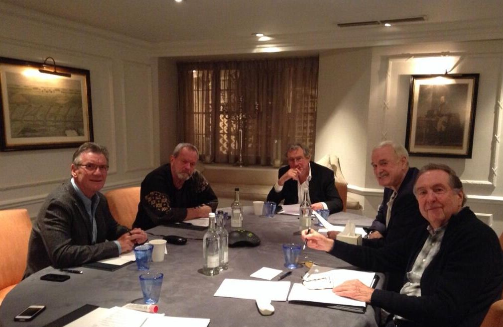 Eric Idle tweets first picture of reunited Monty Python team