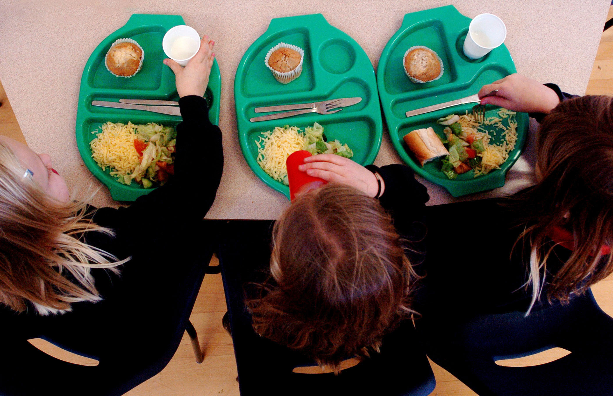 Families are turning to school breakfast clubs for a free meal (Picture: PA)