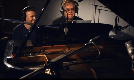 Gary Barlow and Elton John star in new video for duet Face To Face