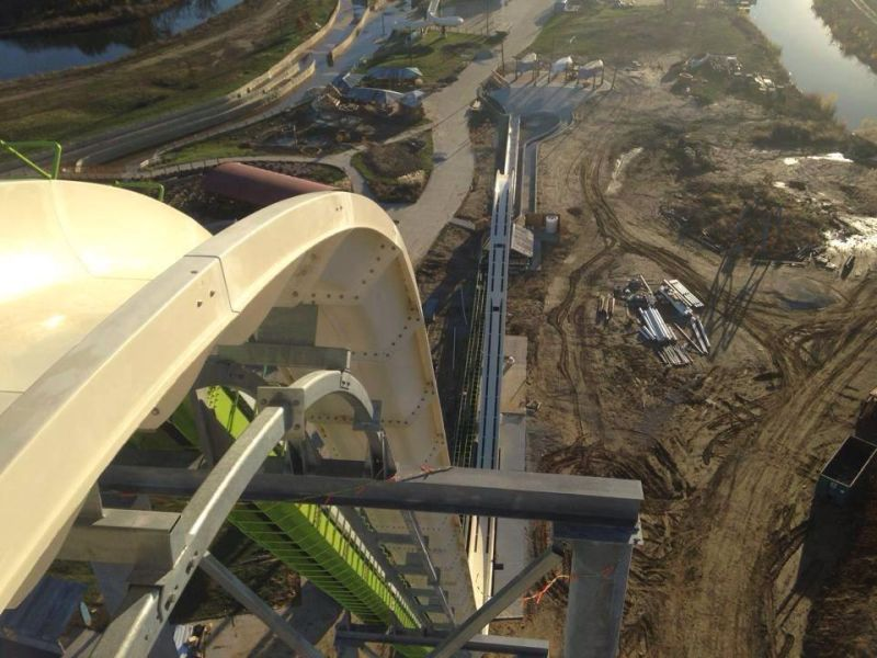 Would you ride the world's tallest waterslide? 140ft Meg-a-Blaster reaches speeds of 60mph