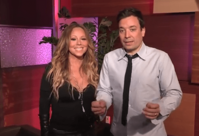 Mariah Carey surprised her fans on The Jimmy Fallon show (Picture: YouTube)