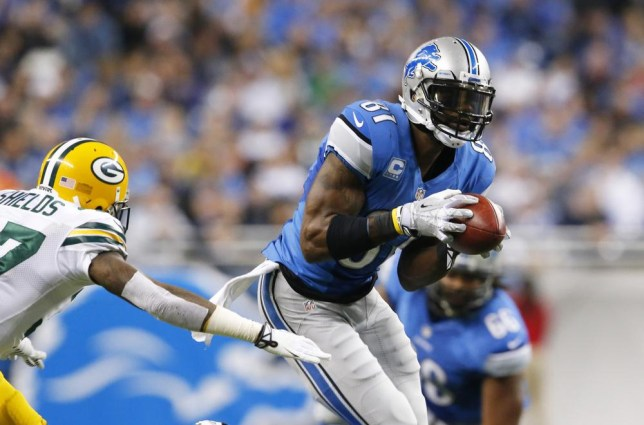 Detroit Lions wide receiver Calvin Johnson (81) pulls away form Green Bay Packers cornerback Sam Shields (37) for a touchdown during the third quarter of an NFL football game at Ford Field in Detroit, Thursday, Nov. 28, 2013. (AP Photo/Paul Sancya) AP Photo/Paul Sancya